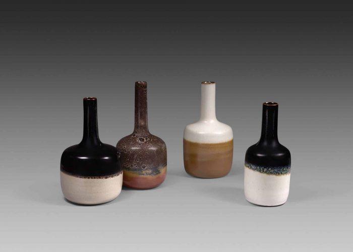 bouteilles ceramiques bicolores
