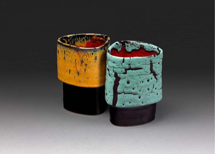 paire calices ceramiques iznik
