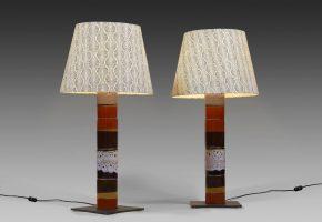 paire lampes totems ceramiques persan