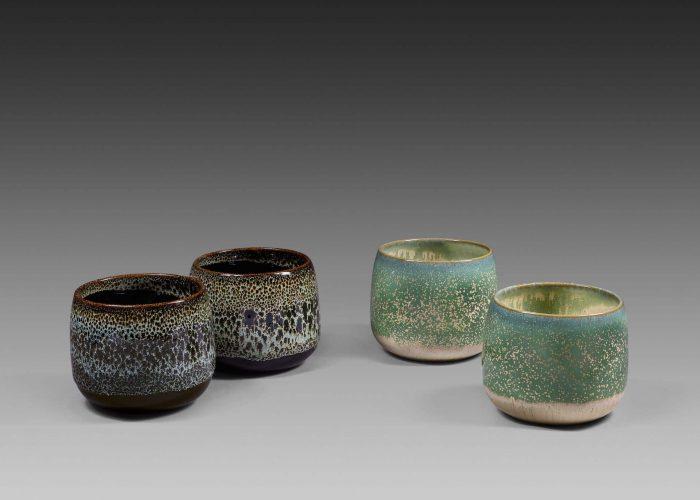 paires pots ceramiques celadon lapis