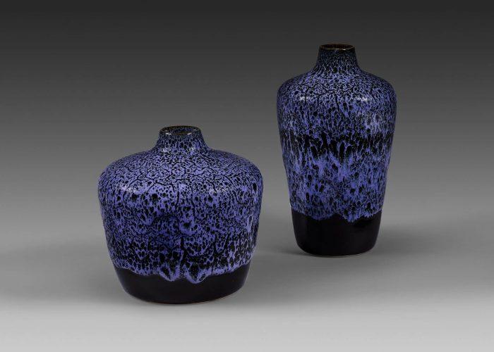 potiches ceramiques indigo