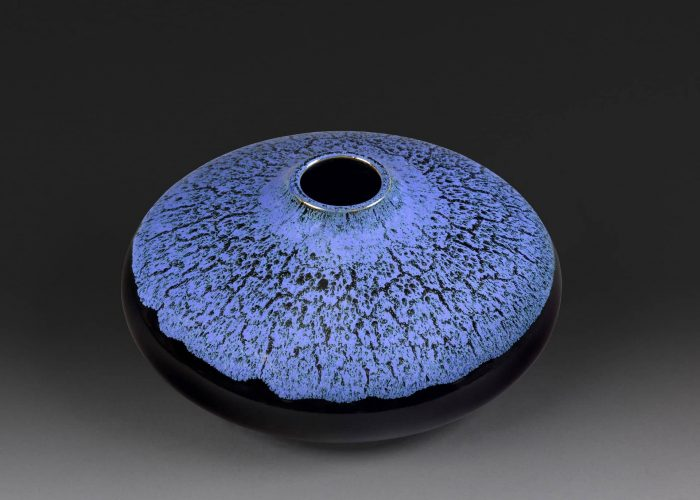 vase ceramique oignon bleu