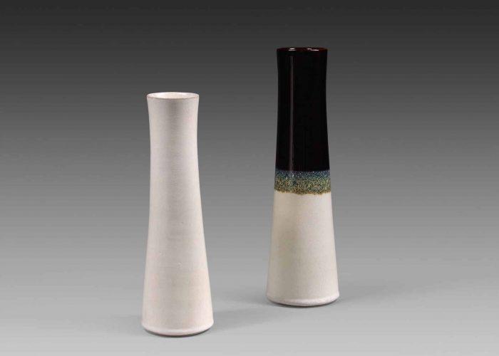 vases ceramiques noir blanc